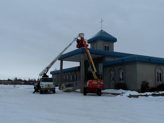 Installation of New Cross to Light Up Neighbourhood at Mount Olive Lutheran Church - Regina SK - Image 7