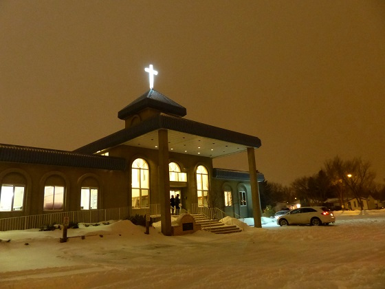 Installation of New Cross to Light Up Neighbourhood at Mount Olive Lutheran Church - Regina SK - Image 8