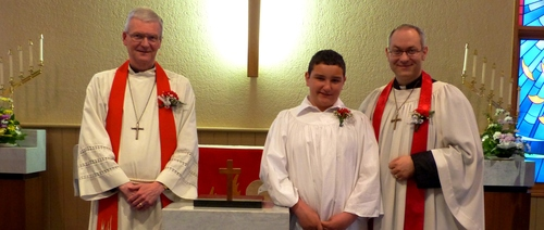 Catechumen Luke Weber Confirmed on Pentecost Sunday 2013