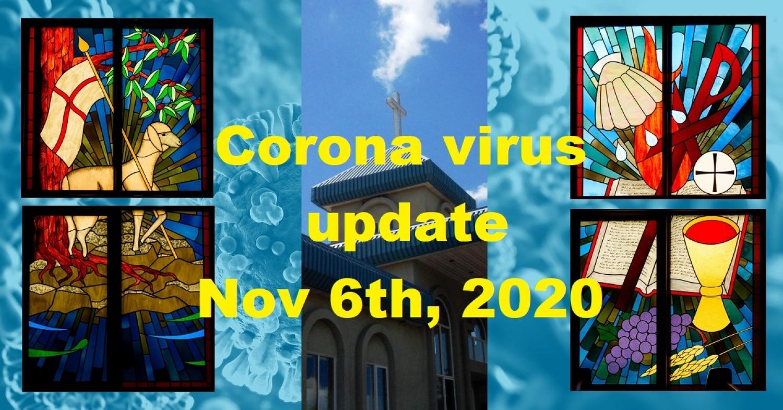 COVID-19 Update - November 6th, 2020