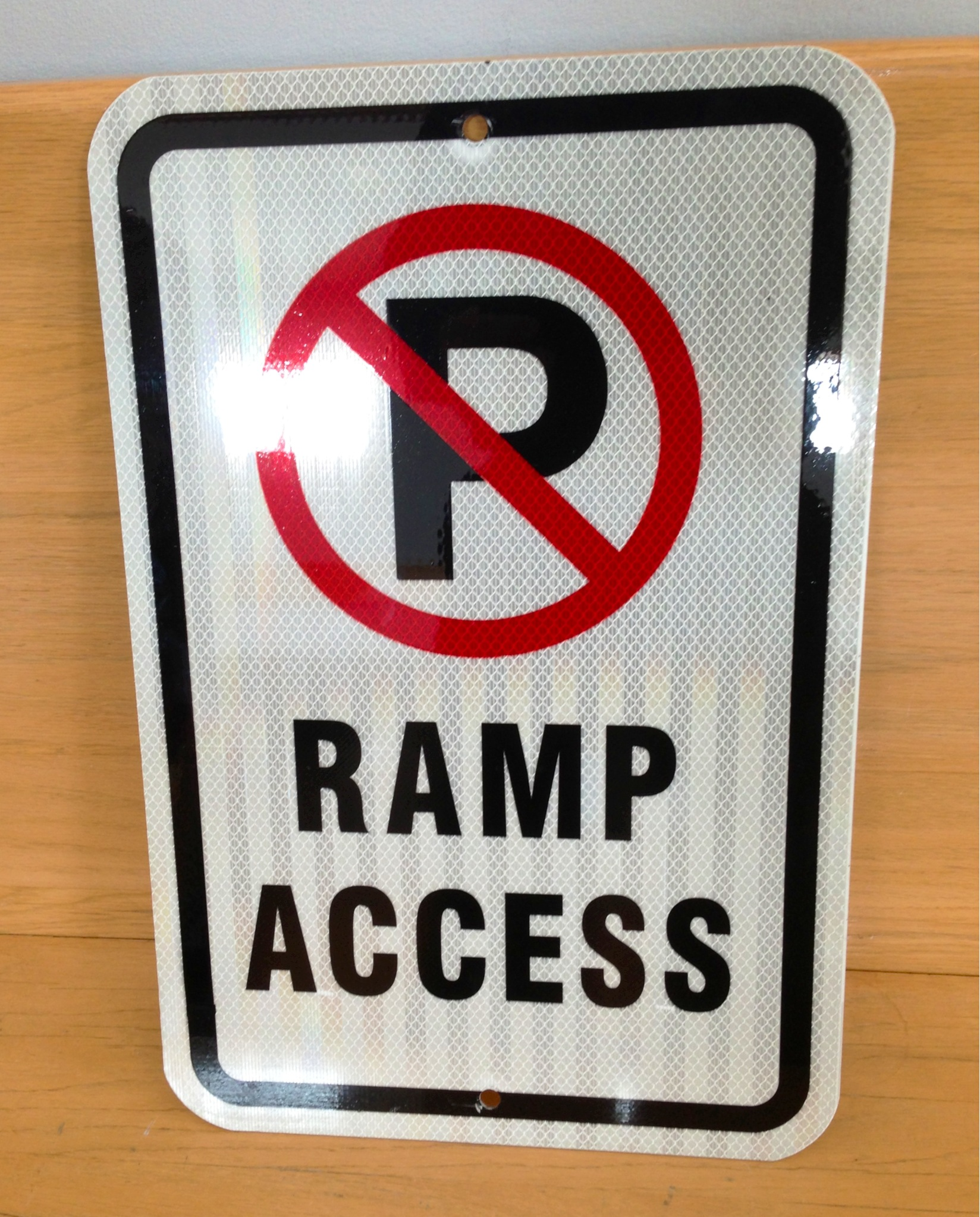 Facility Update! Ramp Access Sign! - Image 1