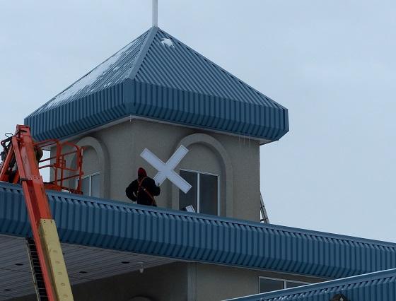 Installation of New Cross to Light Up Neighbourhood at Mount Olive Lutheran Church - Regina SK - Image 1