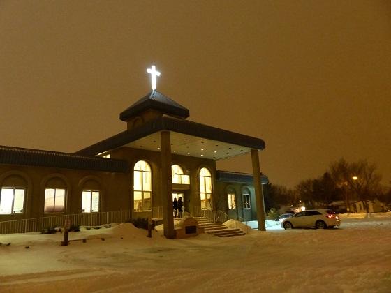 Installation of New Cross to Light Up Neighbourhood at Mount Olive Lutheran Church - Regina SK - Image 8