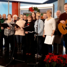 MOLC Singers bringing Christmas Carlos to the Global News' Morning Show - Christmas 2017