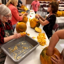 Pumpkin Carving Night for the Reformation Open House October 30th 2019