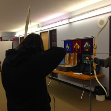 Day for men at Mount Olive to learn a bit about Archery and try it out.