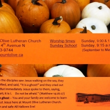 Mount Olive Lutheran Church Annual Reformation Open House held on the Eve of All Saints Day  - October 31st 2014 Regina Saskatchewan