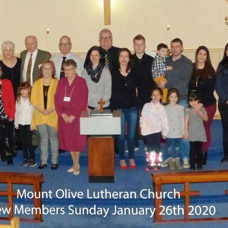 New Members Sunday January 2020