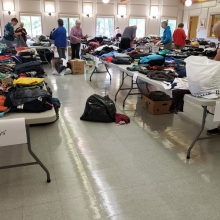 Preparing for the 2019 Clothing Give Away