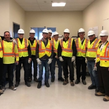 Mount Olive Elder's tour of the of the K+S Potash mine 2019 group photo September 13th
