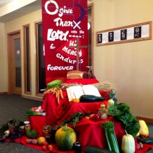 Mount Olive 2014 Thanksgiving display.