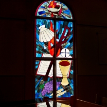 Stained Glass Window at Mount Olive Lutheran Church